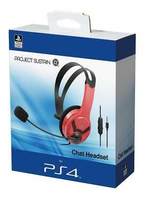 Officially Licensed Sony PS4 Wired Chat Gaming Headset Red - NEW & SEALED