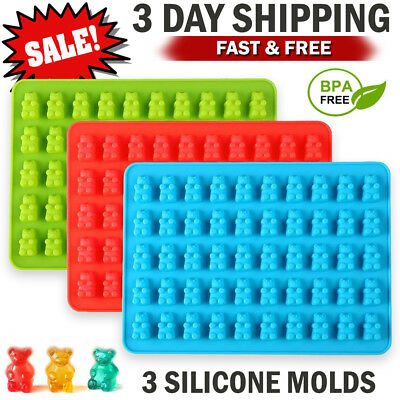 Silicone Candy Molds Gummy Bear Mold Candy Making Ice Cube Tray Chocolate Maker