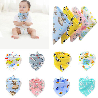 Cute Infant Baby Boy Girl Cotton Bandana Bibs Feed Saliva Towel Dribble Triangle