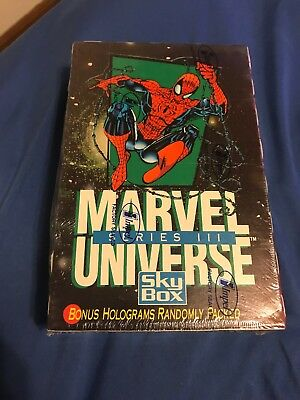 1992 Impel Marvel Universe Series 3 Trading Card Box (36 Pack)