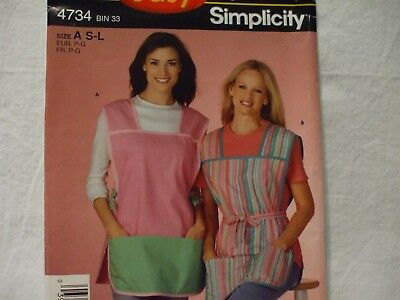 """Simplicity #4734 Misses' Aprons Pattern Size S-L """"It's So Easy"""""""