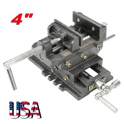 New 4inches Cross Slide Drill Press Vise Metal Milling Vice Holder Clamping Tool