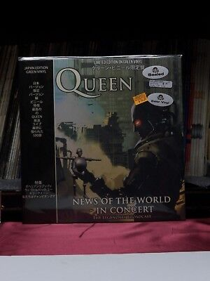 """12"""" LP Queen News Of The World - In Concert 2018 Coda Import Colored CPLVNY337"""