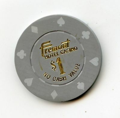 1.00 Chip from the Fremont Casino in Las Vegas Nevada NCV Gray