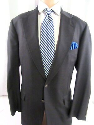 Mens Paul Stuart  Wool Suit, Italy Fabric, year round, Charcoal Gray sz 42 Long