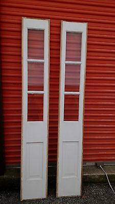 Exterior Door Side Lites One Pair No Frame Stained And Painted We Ship!!!!!!!!!
