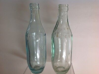 Two Vintage Hires Root Beer Bowling Pin Type Bottles Circa 1900