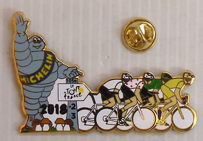 Pin's Velo Tour De France 2018 - Michelin - Champignons - Dore 15Ex