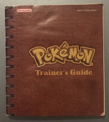 Retro Nintendo GameBoy Pokemon Yellow Trainer's Guide Booklet Instruction Manual