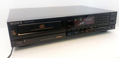 Sony CDP-750 CD Player in Excellent Working Order Vintage Philips TD1541 DAC