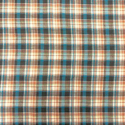 "Madras Plaid Fabric (Style 15962) 100% Cotton 44/45"" Wide Sold By The Yard"