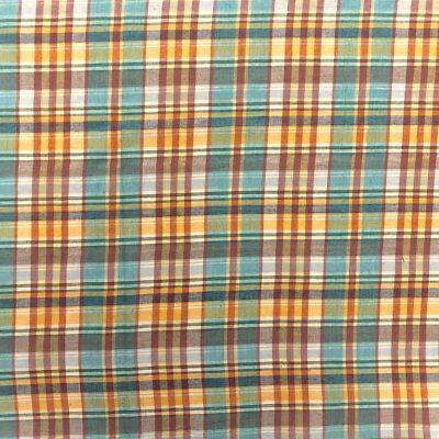 "Madras Plaid Fabric (Style 16114) 100% Cotton 44/45"" Wide Sold By The Yard"