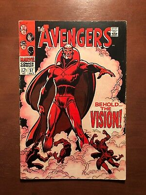 The Avengers #57 (1968) 6.5 FN Marvel Key Issue Comic 1st App Vision Silver Age