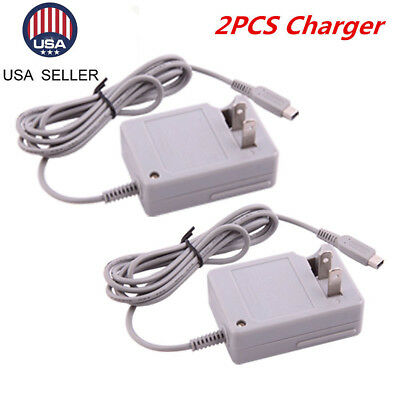 US 2×AC Home Wall Travel Charger Power Adapter Cord For Nintendo DSi NDSi 3DS XL