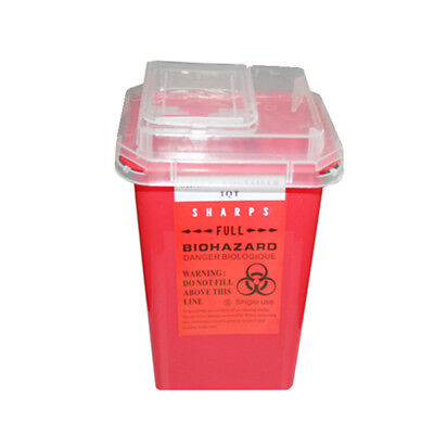 1L Waste Box Tattoo Medical Plastic Sharps Container Biohazard Needle Disposal