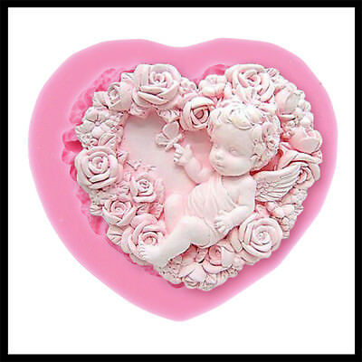 Rose Angel Craft Art Silicone Soap 3D Mold Crafts Molds DIY Fimo Resin Clay Mold