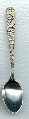 Repousse Teapoon 5-3/4 inch by S. Kirk and Son Sterling Silver Momogrammed
