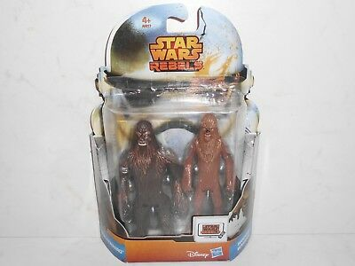 "Star Wars Rebels MS07 WULLFFWWARRO & WOOKIEE WARRIOR 3.75"" Disney Hasbro A9817"