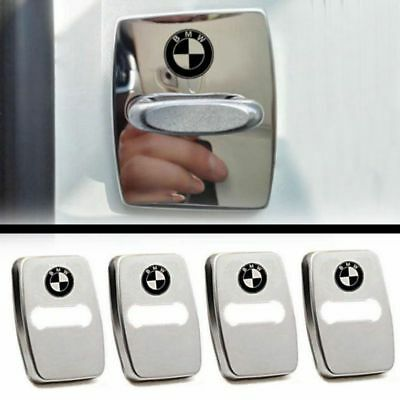 4pcs/Lot Stainless Steel Car Door Lock Buckle Protective Cover For BMW