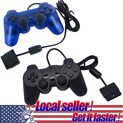 USA SHIP Twin Shock Game Controller Joypad Pad for Sony PS2 Playstation 2 ov