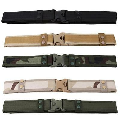 1PC Tactical Men Hiking Waistband Army Military Trouser Buckle Belt Outdoor LIN