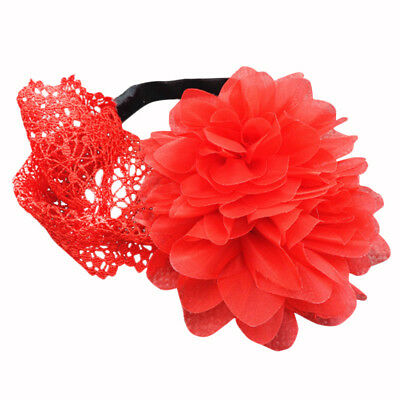 Beautiful Baby Girls Elastic Flower Headband Hairband Hair Accessories (Red C5M8
