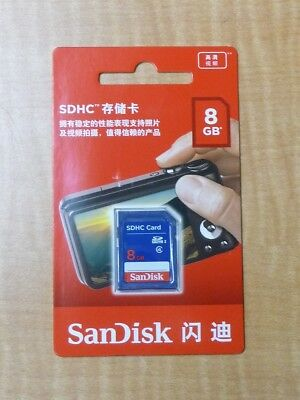 New SanDisk 8GB Class 4 SDHC UHS-I Flash Memory SD Card Cameras SHIPS FROM US!