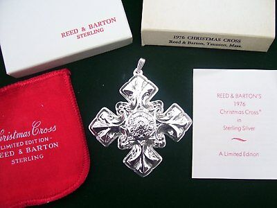1976 Reed & Barton Sterling Silver Christmas Cross~ 6th Annual ~MINT! New in Box