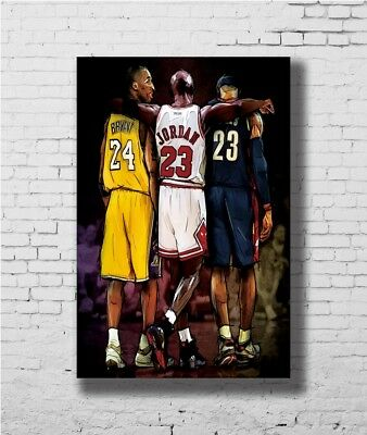 24x36 14x21 Poster Michael Jordan Kobe Bryant James Great Art Hot P-1928