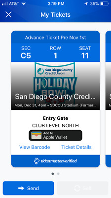 2018 Holiday Bowl Tickets