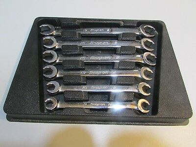 Lot#39 Snap-On Tools Rxfms606B Metric Flare Nut Wrench Set 9-21 Mm Nice Shape