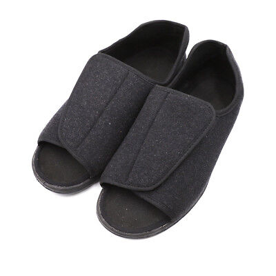 52c41cdfe06 Mens Orthopedic Adjustable Slippers Wide Width Open-Toe Shoes for Diabetic  Edema