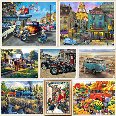 Car Travel Full Drill DIY 5D Diamond Painting Embroidery Cross Stitch Kit Street