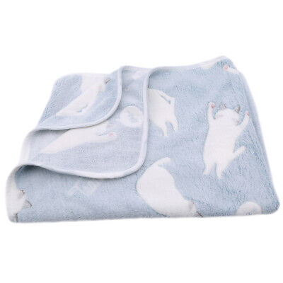 Cute Cat Print Flannel Baby Blanket Soft Fabric Baby Warm Blanket Supplies NB