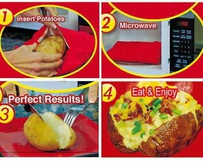 Microwave Baked Potato Instant Cooking Bag Express Washable Cooker Fast Tool OU