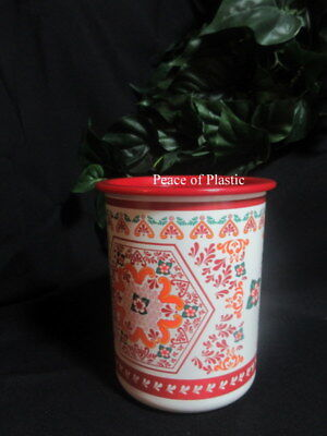 Tupperware New~  Red Design Small Canister With One Touch Red Seal
