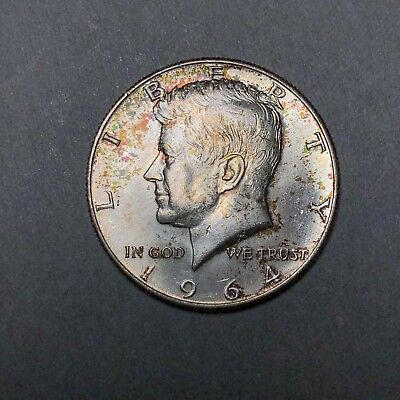 1964-D Kennedy Half Dollar 50C - Gem Uncirculated - Colorful Toning