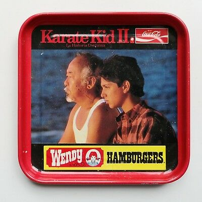 Mega Rare Karate kid II movie promo metal coaster