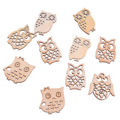 Sewing scrapbooking accessories mix natural owl shape wooden crafts handmade