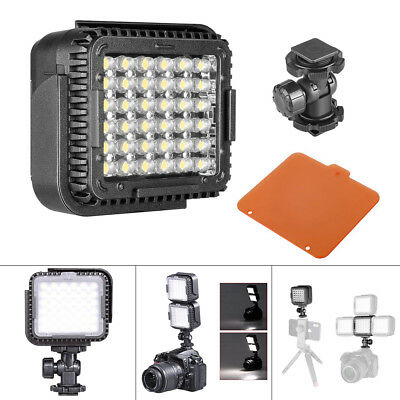 2PCS LED Dimmable Camcorder Video Light Lamp For Canon Nikon Camera Photo 5400K