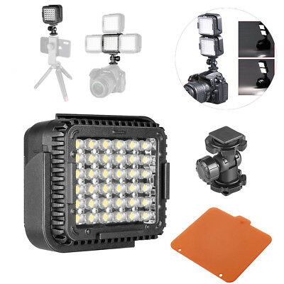 LED Dimmable Camcorder Video Light Lamp For Canon Nikon Camera Photo 5400K