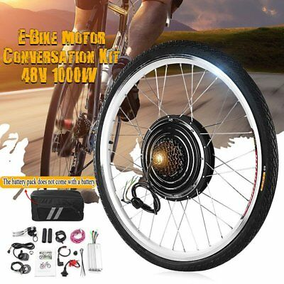 "26"" 1000W Rear Wheel 48V Electric Bicycle Bike Motor Conversion Kit Hub Cycling"