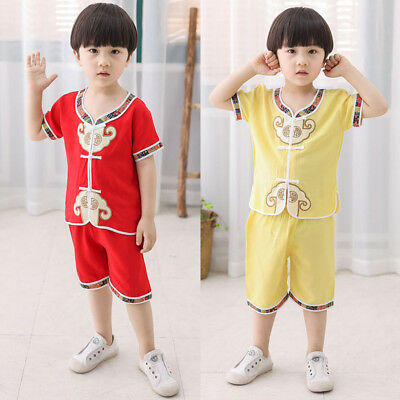 Baby Boy Short Sleeve Tang suit Tops Short Pants Chinese Style Kids Outfits Set