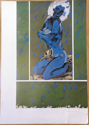 Hand Signed Offset Lithograph - Nude Woman * Art Print