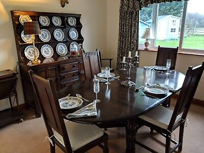 Ercol Dining Suite (Table, 4 Chairs & Dresser)