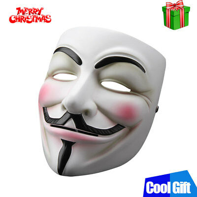 V For Vendetta Mask Guy Fawkes Anonymous USA Occupy Halloween Cos Xmas Cool Gift