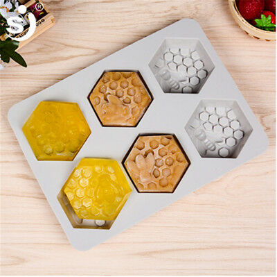 HONEY BEE SILICONE 6 Hole MOULD SOAP RESIN CLAY WAX MOLD Handmade DIY Craft New
