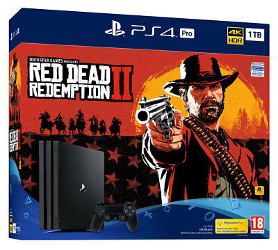 PS4 Pro 1TB Red Dead Redemption 2 Console