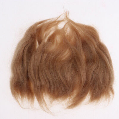 Pure Mohair Hair Straight Wig for Reborn Doll Baby Doll Supplies DIY Golden
