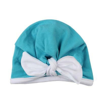 Cote Beanie Solid Bow Knot Wrap Baby Cap Turban Hat for Newborn Toddler T